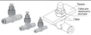 Встраиваемый пневмодроссель для панельного монтажа AS-1F