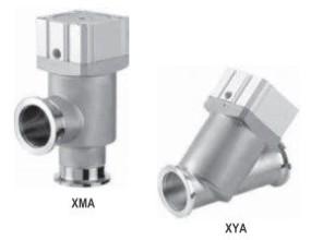 Угловые и прямые клапаны сильфонного типа с корпусом из нержавеющей стали XMA, XYA