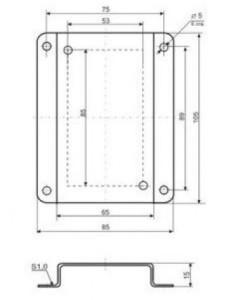 Кронштейн КД1–Н для приборов и датчиков в настенном корпусе 608035654309a