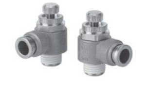 Пневмодроссель с обратным клапаном и быстроразъемным соединением AS-X737
