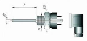 Термопреобразователь сопротивления DIN43650 6080423ea6460