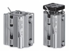 Цилиндры пневматические короткоходовые Серия QP и QPR