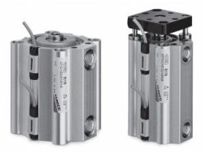 Цилиндры пневматические короткоходовые Серия QP и QPR 5fc870af2e793