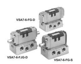 5/2, 5/3 пневмораспределители с пневмоуправлением EVSA7-6 (ISO 1)/EVSA7-8 (ISO 2)