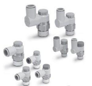 Прямой/угловой пневмодроссель с обратным клапаном AS1201F-4201F, AS1301F-4301F 5f93f043639cf
