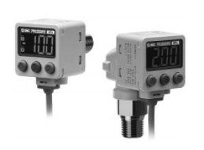 Датчик давления/вакуума с двухцветной цифровой индикацией для различных сред ZSE80/ISE80