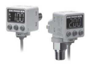 Прецизионный датчик давления/вакуума с двухцветной цифровой индикацией ZSE40A(F)/ISE40A