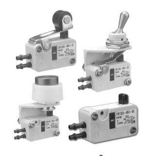 2/2, 3/2 пневмораспределители с механическим управлением VM1000 5f543c3439700