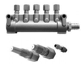 5-канальный коллектор для раздачи маслосодержащего воздуха/Сопла 5fc5c0e3bc425