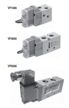5/2, 5/3 пневмораспределитель с электропневматическим управлением VF1000/3000/5000 5f520c988b32c