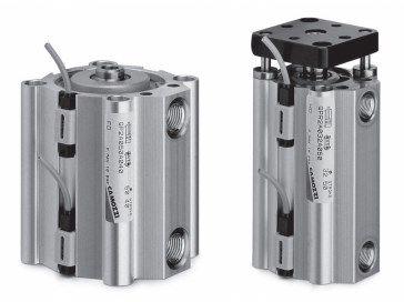 Цилиндры пневматические короткоходовые Серия QP и QPR 5fcc787a87716