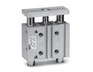 Цилиндры пневматические со встроенными направляющими Серий QCT и QCB 5fc56590a6021