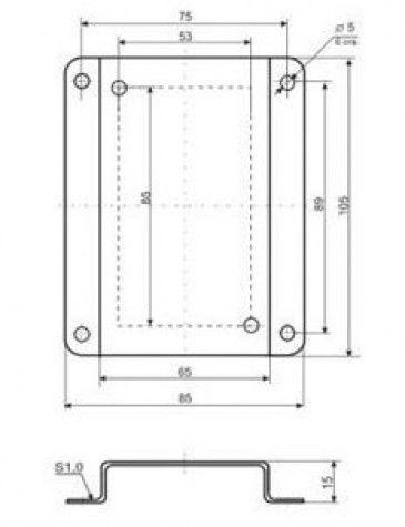 Кронштейн КД1–Н для приборов и датчиков в настенном корпусе 5f5441a6dd4b8