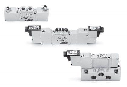 Минираспределители золотникового типа с пневматическим и электропневматическим управлением Серия E 5fd2ee78965da