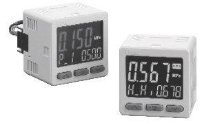 Прецизионный датчик давления/вакуума с трехэкранным дисплеем ZSE20(F)/ISE20 6087a8bb744c0