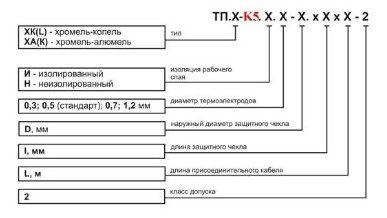 Термопара (преобразователь термоэлектрический) ТП.Х-К5 5f54415611147