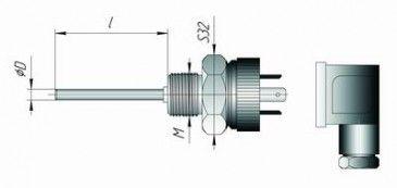 Термопреобразователь сопротивления DIN43650 5f54415c19334