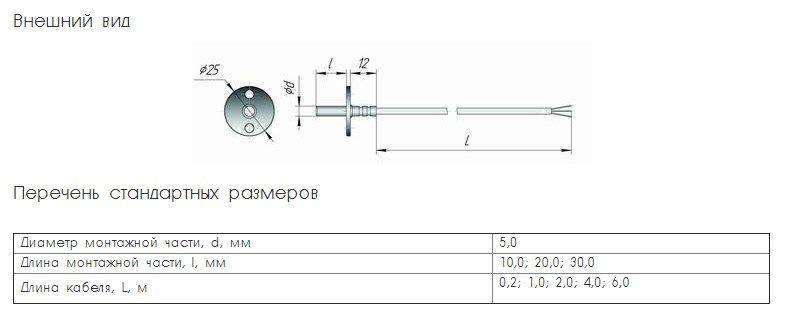 Термопреобразователь сопротивления ТСМ (ТСП)-К2Ф 5fcd334ec8212