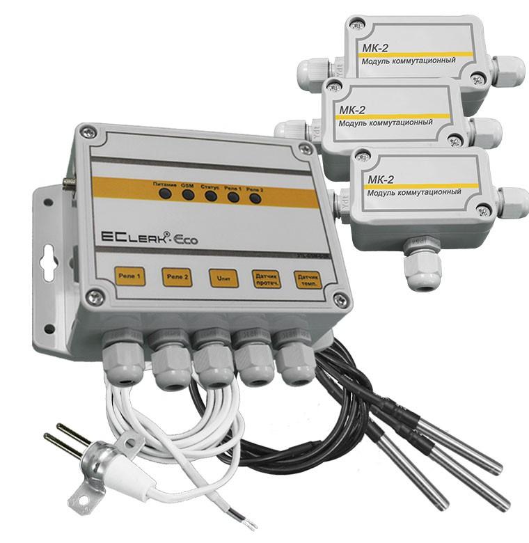 Измеритель температуры EClerk-Eco-3TL-GSM-0-2R-HP с функцией GSM регулятора 60813cd99e651