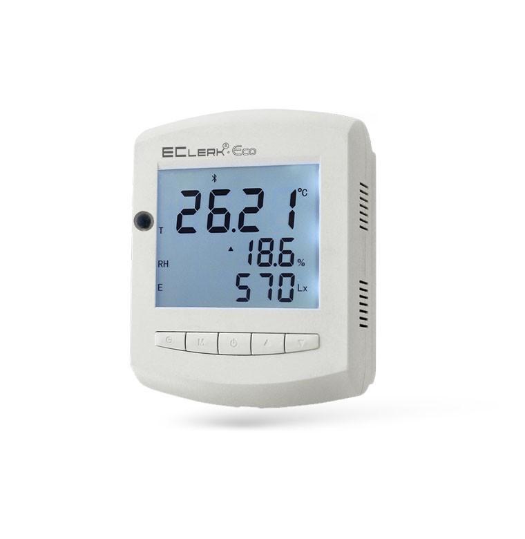 Измеритель температуры, влажности и уровня освещенности EClerk-Eco-RHTQ 60851b0b5f7d4