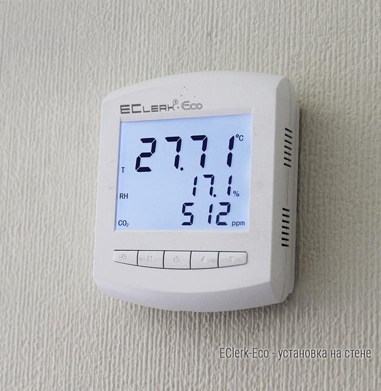 Измеритель температуры, влажности и концентрации CO2 EClerk-Eco-RHTC 60868620c62f1